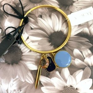 NWT J. Crew Charm Bangle Two Bracelet Set {GD}